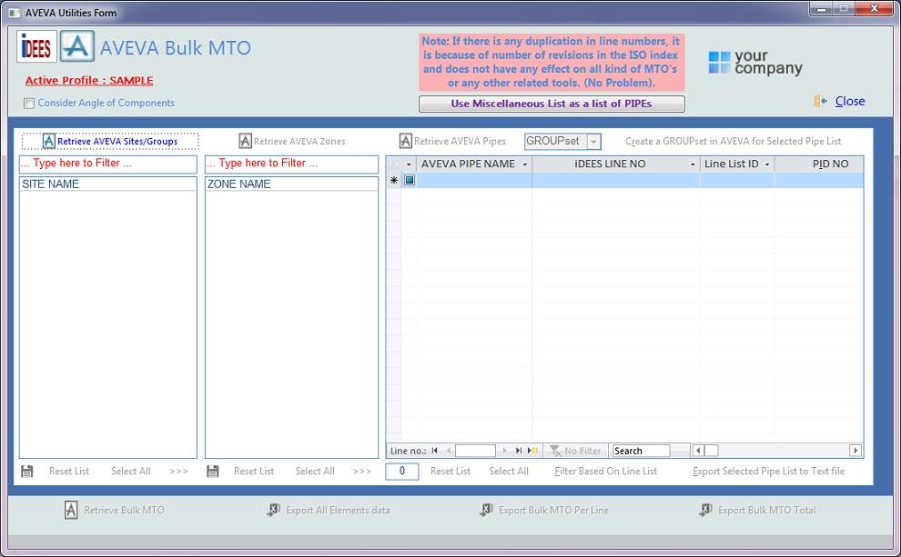 AVEVA PDMS/E3D Report Utility